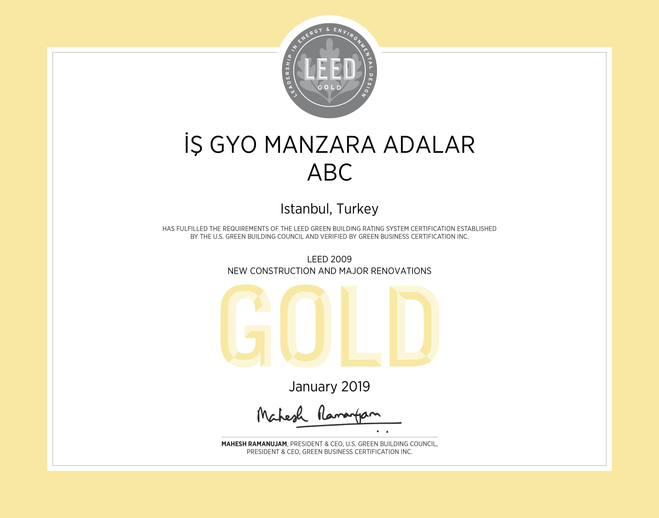 LEED Gold / Manzara Adalar Konut