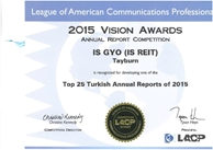 Top 25 Turkish Annual Reports 2015