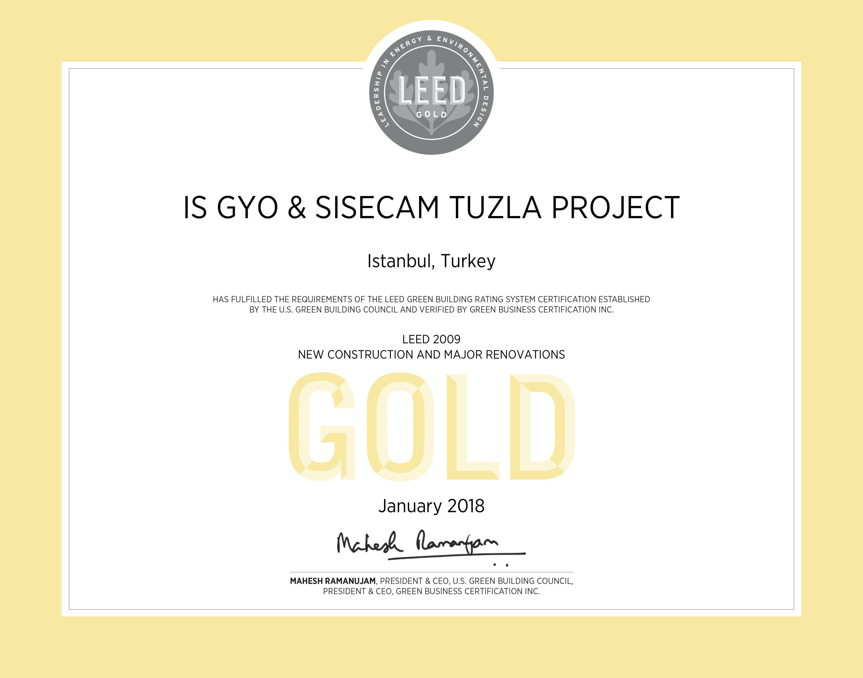 LEED Gold / Tuzla Karma Projeleri