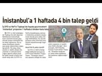 İnistanbul'a 1 haftada 4 bin talep geldi
